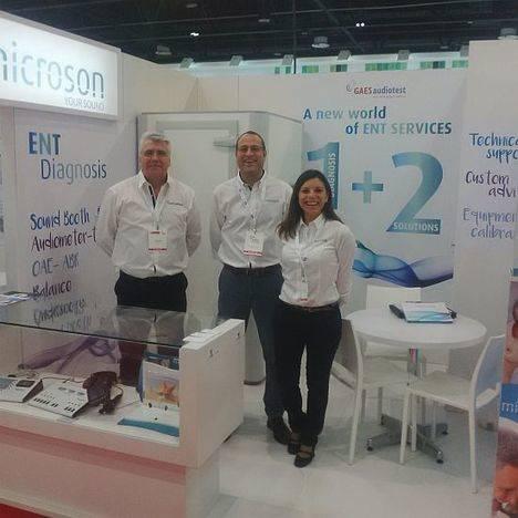 Microson y Gaes Audiotest participan en Arab Health, una de las principales ferias de Salud a nivel mundial