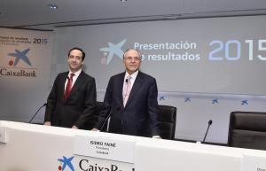 CaixaBank obtiene un beneficio de 814 millones (+31,4%) en 2015 y refuerza su posición como la entidad líder del mercado español