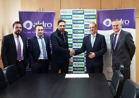 Aldro Energía y la Federación Empresarial de la Dependencia firman un acuerdo para reducir hasta un 30% el gasto eléctrico de sus asociados