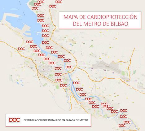 Metro de Bilbao se convierte en un referente en Europa de cardioprotección con desfibriladores en todas sus estaciones