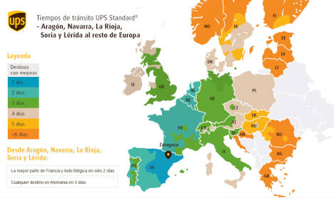 UPS invierte en su red terrestre para conectar de forma más rápida a España con el resto de Europa