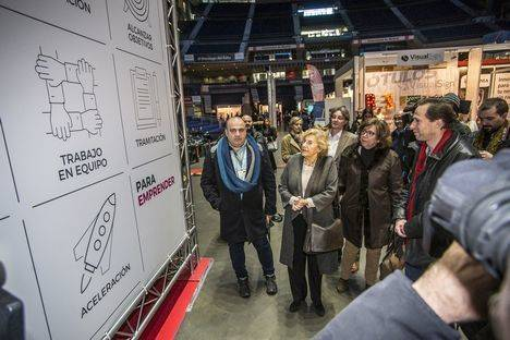 Carlos Blanco y Manuela Carmena inauguran la VII edición del Salón MiEmpresa