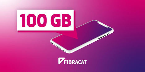 Fibracat regala 100 gigas a los clientes de telefonía móvil