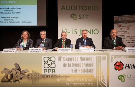 """""""Para alcanzar los nuevos objetivos de reciclado de la Unión Europea son esenciales los materiales de calidad que obtienen los recicladores"""": Ion Olaeta, presidente de FER"""