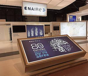 ENAIRE muestra en Fitur los servicios de navegación que mueven ocho de cada diez turistas que llegan a España por vía aérea