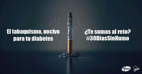 """""""'30 días sin humo', una iniciativa de deshabituación tabáquica dirigida a las personas con diabetes"""""""