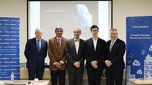 De izqda. a dcha.: Rodrigo Fernández-Avello, Arun Muralidhar, José Antonio Herce, Seth G. Benzell y Christopher Mayer.