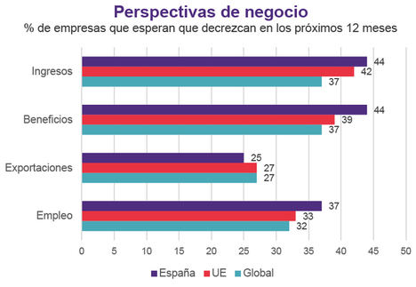 4 de cada 10 empresarios españoles espera una caída de sus ingresos y beneficios el próximo año