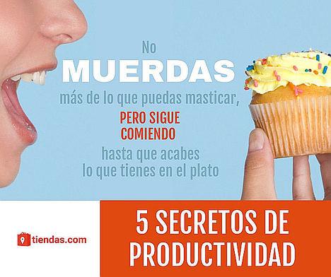 5 Secretos de productividad con un enfoque creativo y diferente, que propone tiendas.com