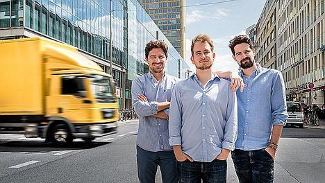 Luis Bardají, Gabor Balogh y Ramón Castro, fundadores de Trucksters.