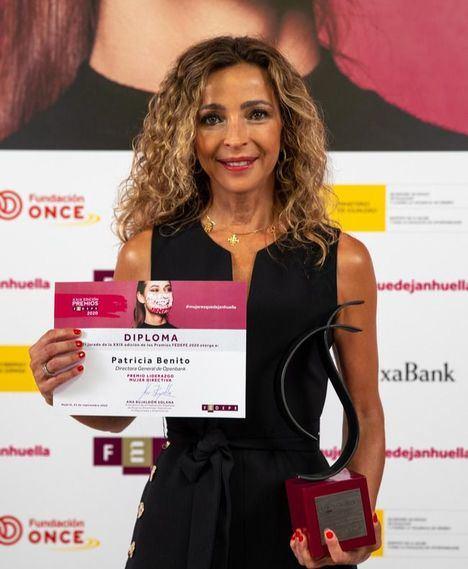 Patricia Benito, Premio Liderazgo Mujer Directiva de FEDEPE.