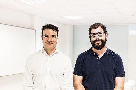Ángel Mayoral (izda.) y Alberto García, cofundadores de Homyspace.