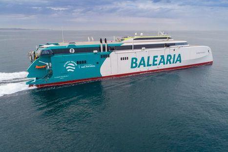 """Baleària emite un reportaje sobre el primer viaje del fast ferry Eleanor Roosevelt, """"un barco que va a marcar historia"""""""
