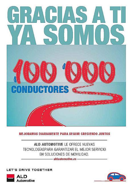 ALD Automotive supera los 100.000 vehículos en España