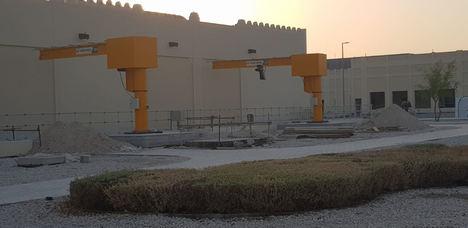 ATS CRANES equipa la estación de bombeo del proyecto de las ISF de Catar con grúas pluma VERLINDE