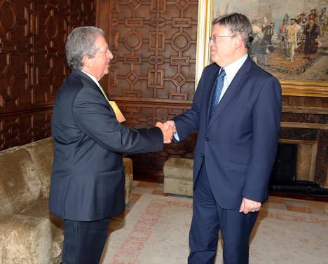 El presidente del Grupo CLH se reúne con el presidente de la Generalitat Valenciana