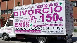 Abogados Cebrián con sus 'Divorcionetas' ofrecen divorcios express por 150 euros por cónyuge en toda España