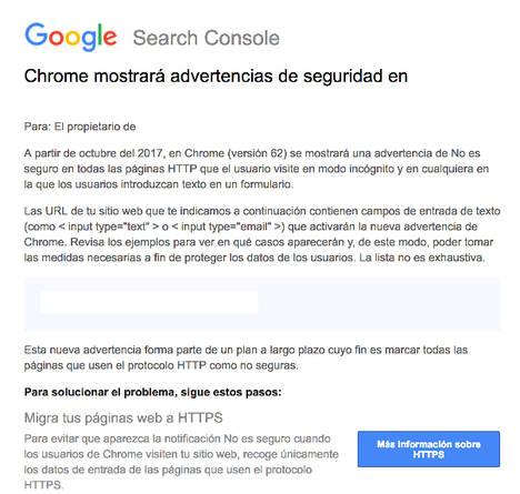 Aclaraciones sobre la nueva advertencia de seguridad de Chrome, por JuanLuisMora.es