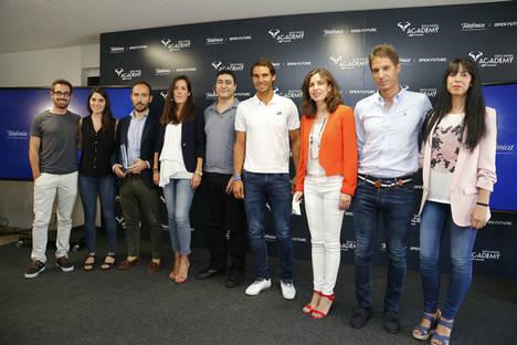 ialtitude, Vilynx y Spinn Technologies, ganadoras de la convocatoria de startups tecnológicas para la Rafa Nadal Academy by Movistar, presentan sus soluciones a Rafa Nadal