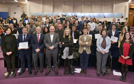 Acto de entrega de los diplomas acreditativos de Responsabilidad Social Empresarial, (imagen cedida por el Gobierno de Navarra).