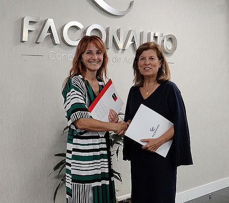 Marta Blázquez, vicepresidenta ejecutiva de Faconauto y Raquel Navares, directora general de PONS Compliance.