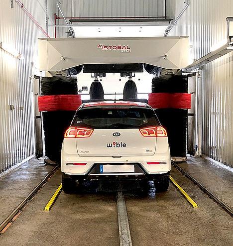 ISTOBAL alcanza un acuerdo con Wible para el lavado de su flota de vehículos en Madrid