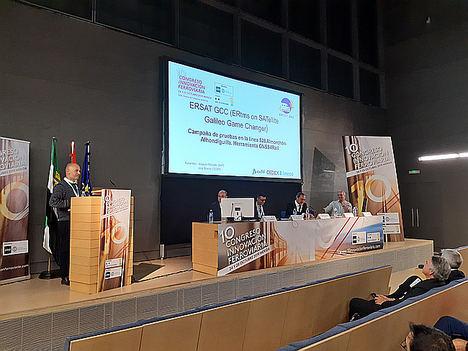 Adif presento en el 10º Congreso de Innovación Ferroviaria las conclusiones de la campaña de pruebas del proyecto europeo ERSAT-GGC