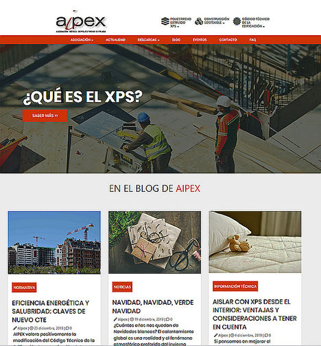 AIPEX apuesta por la sostenibilidad en la construcción en su nueva página web