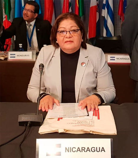Alba Luz Torres, ministra de Trabajo de Nicaragua.