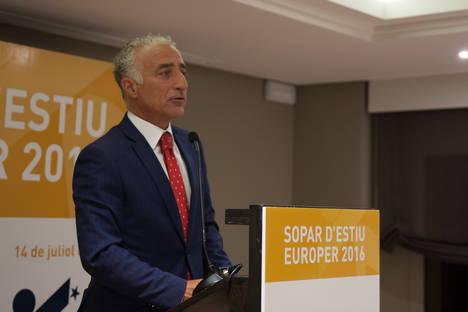 Albert Sola en un momento de su discurso