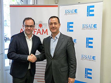 Alberto Z. Alvarez, Adefam (izda) y Xavier Sánchez, Esade.