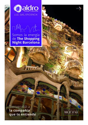 Aldro Energía iluminará The Shopping Night Barcelona 2018