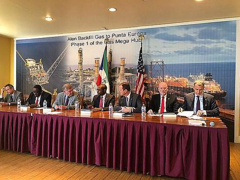 Guinea Ecuatorial y las principales compañías de petróleo y gas firman acuerdos definitivos para la monetización del gas de la unidad Alen