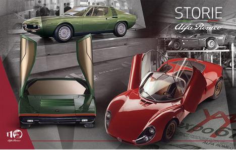 Alfa Romeo 33 Stradale, Carabo y Montreal