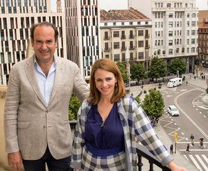 Alfonso De Leon, CEO de Axon Partners Group y Alicia Asín, accionista mayoritaria y CEO de Libelium.