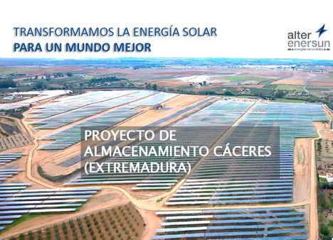 Alter Enersun invertirá más de 10 millones de euros en su primer proyecto de almacenamiento energético en Extremadura