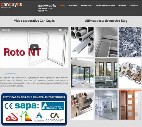La carpintería de aluminios Can Cuyás actualiza su catálogo de productos