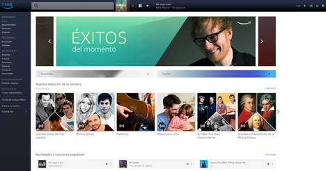 Amazon lanza en España Amazon Music Unlimited, el servicio de música en streaming con un catálogo completo de más de 50 millones de canciones