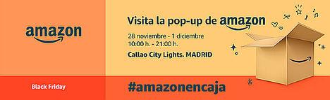 Amazon celebra el Black Friday en España con la apertura de su pop-up store