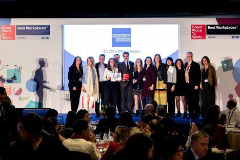 American Express elegida como una de las 10 Mejores Empresas para trabajar en España por tercer año consecutivo