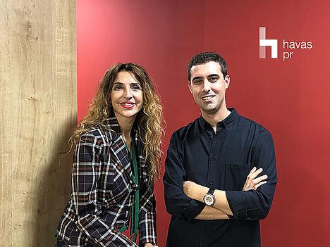 Ana de Castro, Directora General de Havas PR España junto a Javier Carriba.