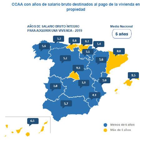 Los españoles tienen que destinar el sueldo de 6 años a comprar su vivienda, según InfoJobs y Fotocasa