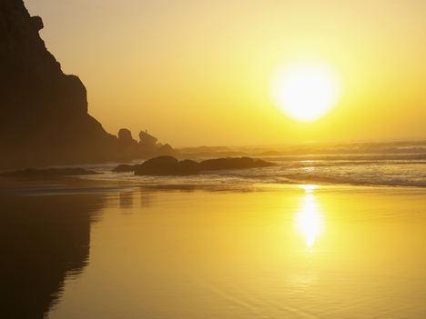Anochecer Costa Oeste - Praia da Murracao.