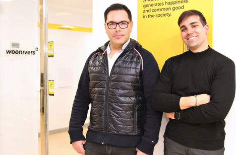 Antonio Cantalapiedra y Abel Navajas, cofundadores de Woonivers.