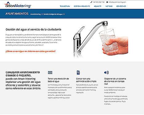 Arson Metering renueva su web sobre telelectura de contadores de agua
