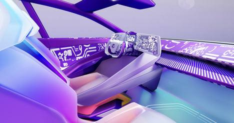 Artistas y diseñadores crean interiores virtuales para el Lexus LF-Z Electrified