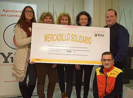 Un centro logístico de DHL en Seseña (Toledo) dona 7.515€ a la Asociación Yuna para proyectos sociales en Leganés y Getafe