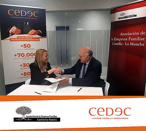 CEDEC firma un convenio de colaboración con la Asociación de Empresa Familiar de Castilla-La Mancha