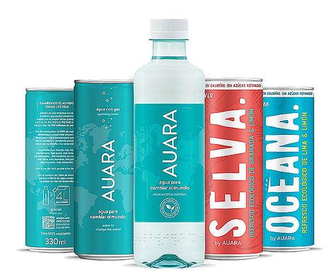 Agua con gas, agua mineral natural y sus nuevos refrescos Planet Drinks.