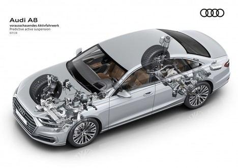 La suspensión activa predictiva del Audi A8